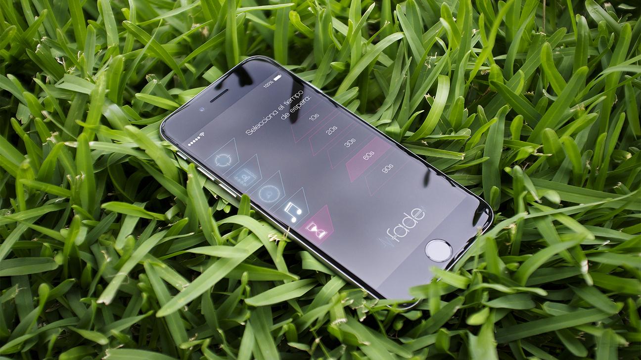 Pantalla de selección de tiempo de espera de app móvil Fade (Fall detector)