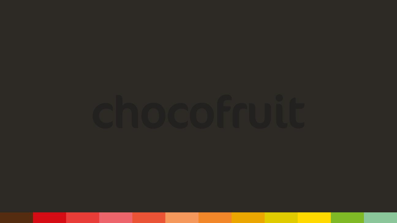 Logotipo de los bombones de chocolate negro Chocofruit