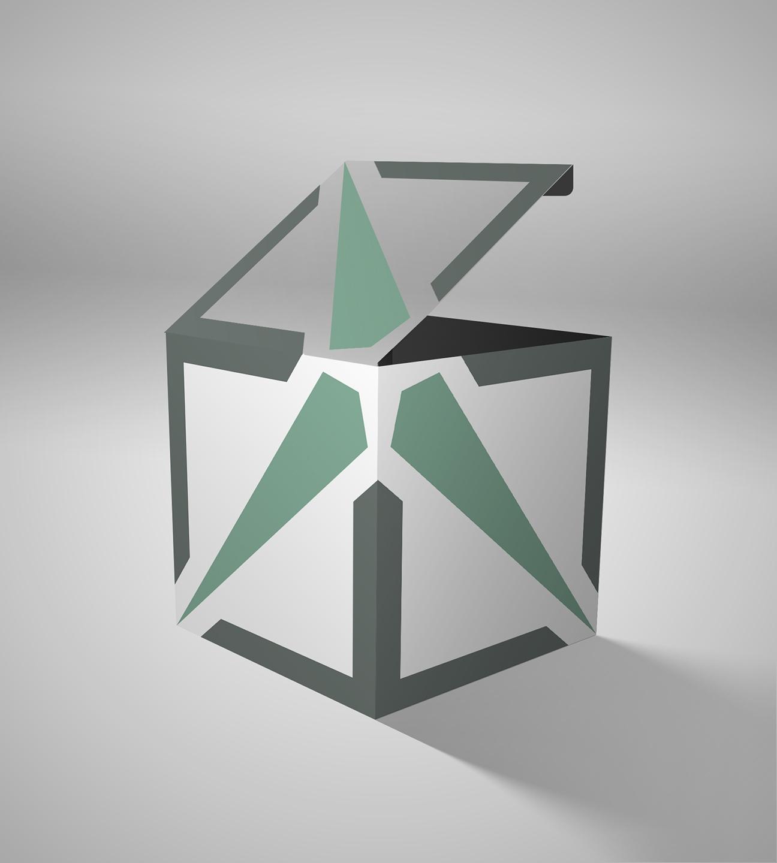 Cubo con el símbolo / isotipo del ITER