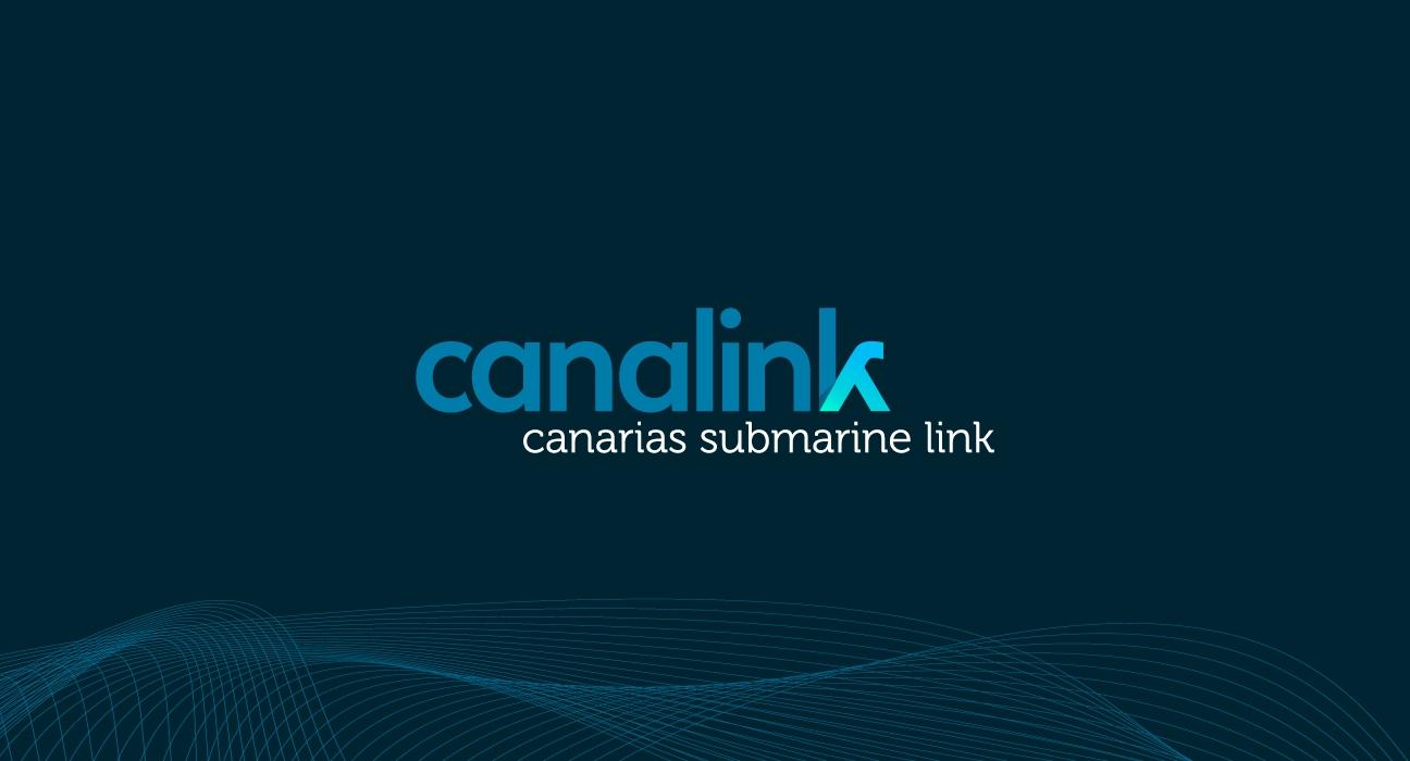 Banner mostrando la nueva marca propuesta para Canalink (Canarias Submarine Link)