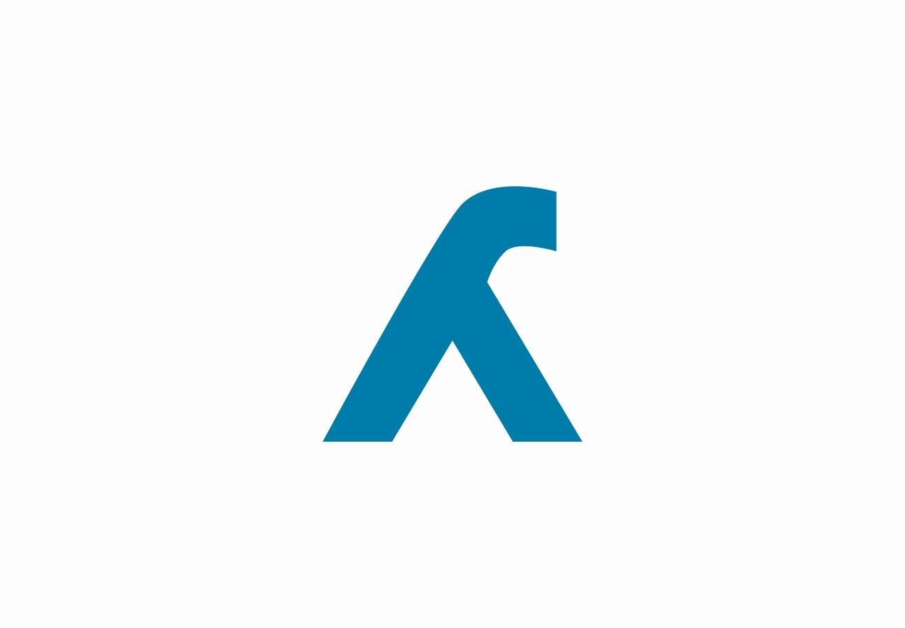 Icono / pictograma de lambda para la nueva imagen visual de Canalink