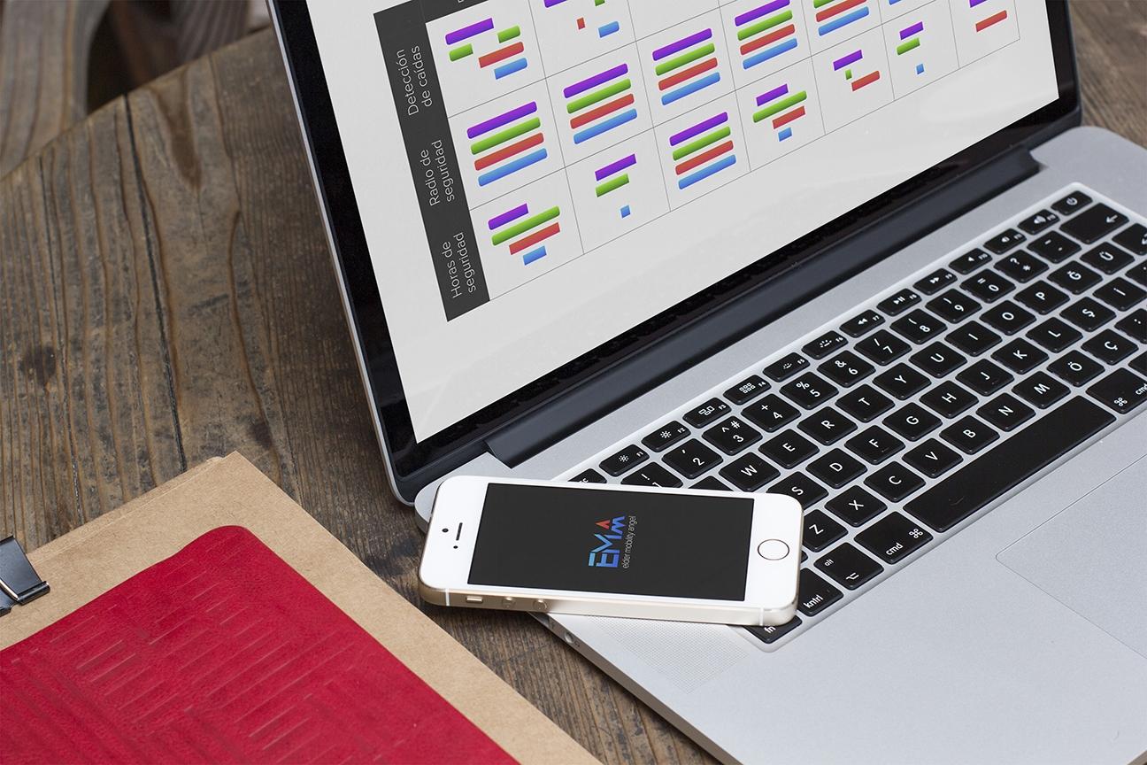 EMA - pantalla web de planificación de cuidadores y launcher de app móvil
