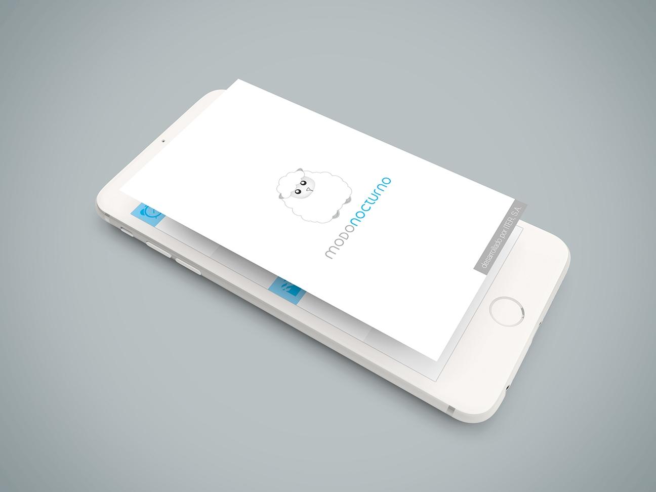 Banner de presentación de la aplicación móvil Modo nocturno