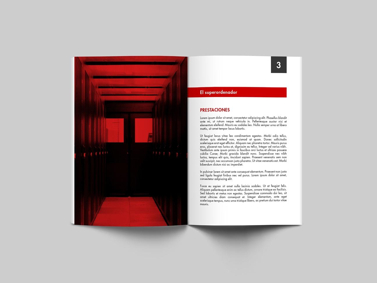 Interior del catálogo de servicios / revista del superordenador Teide HPC