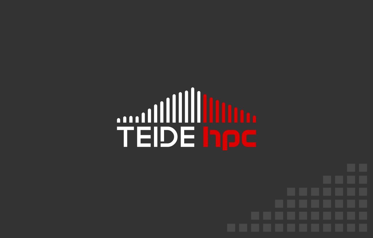 Banner para propuesta de identidad visual para el superordenador Teide HPC