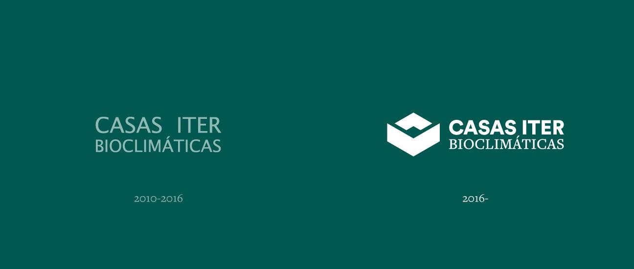 Evolution de la identidad visual de las Casas bioclimáticas ITER